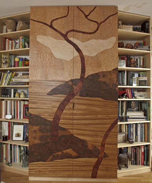 Schrank mit Bücherregal